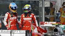 Felipe Massa - Fernando Alonso - Ferrari - Formel 1 - GP China - 13. April 2013