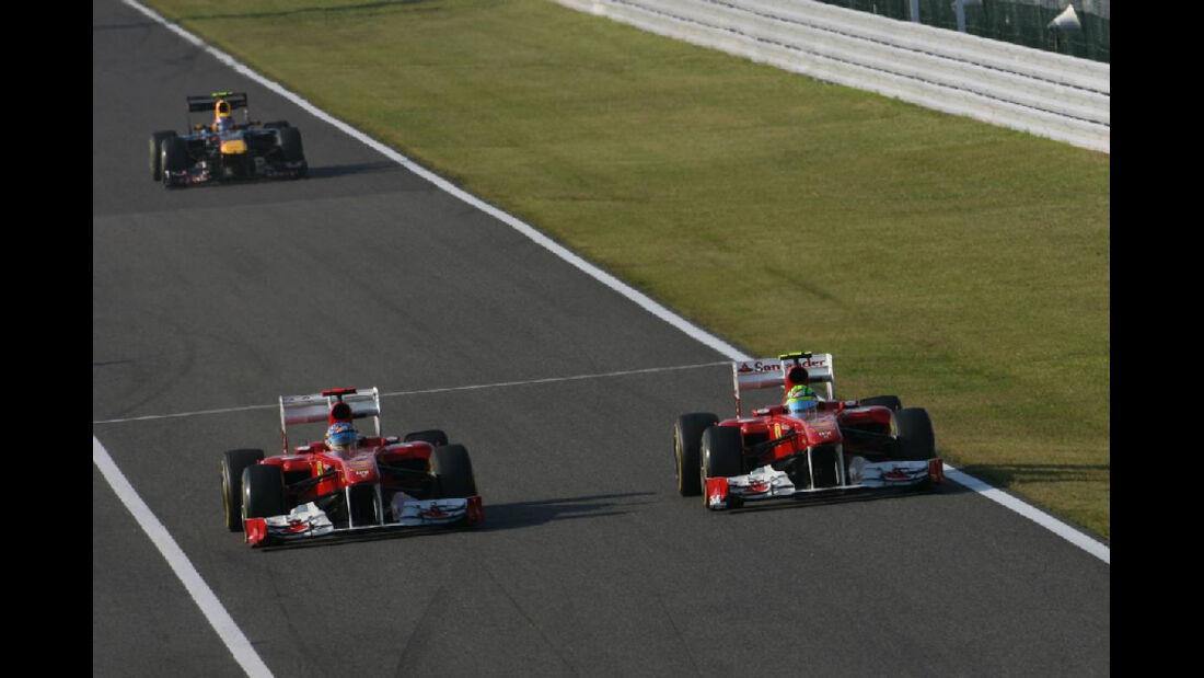 Felipe Massa - Fernando Alonso  - Formel 1 - GP Japan - 9. Oktober 2011