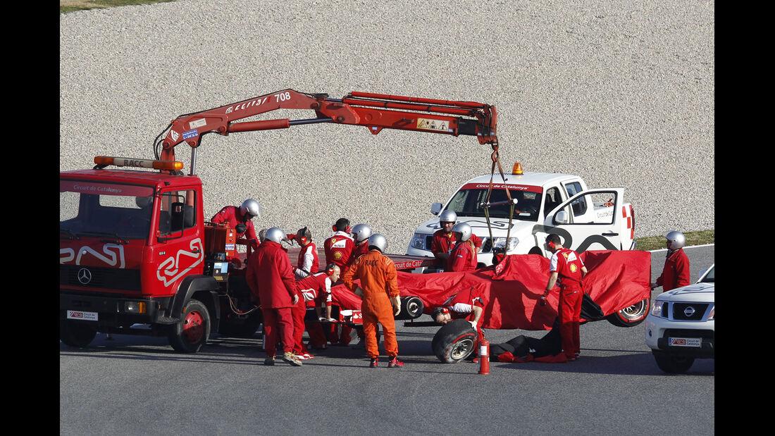 Felipe Massa Ferrari F1 Test Barcelona 2013