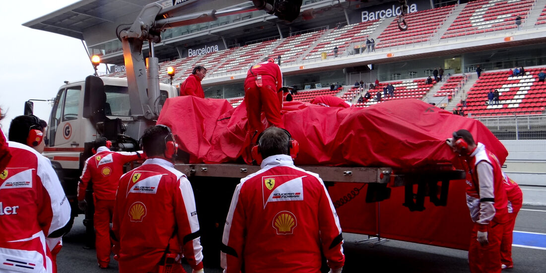 Felipe Massa - Ferrari - Formel 1 - Test - Barcelona - 22.Februar 2013