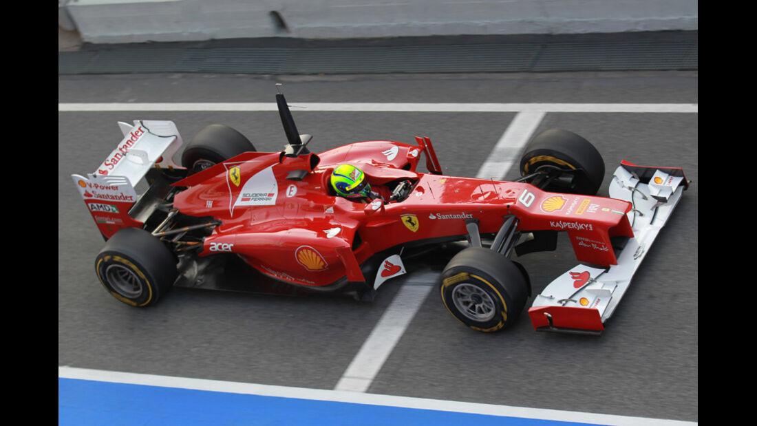 Felipe Massa - Ferrari - Formel 1-Test Barcelona - 3. März 2012