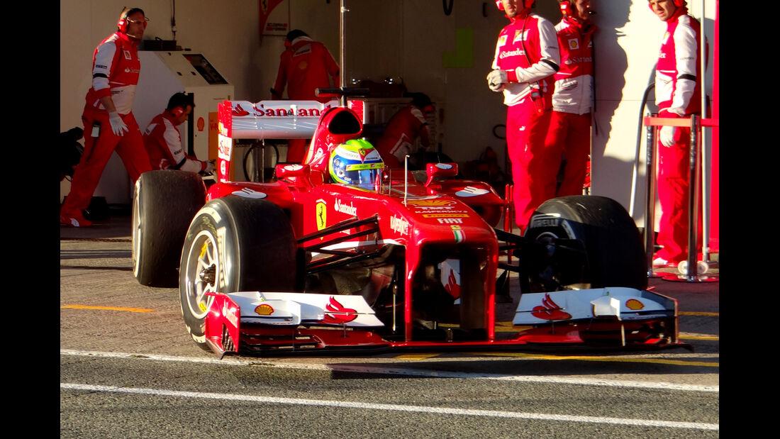 Felipe Massa - Ferrari - Formel 1 - Test - Jerez - 6. Februar 2013