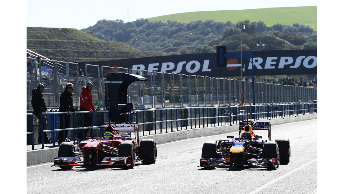 Felipe Massa, Ferrari, Mark Webber, Red Bull, Formel 1-Test, Jerez, 6.2.2013