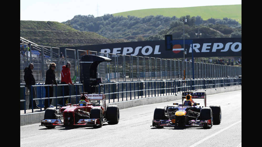 Felipe Massa, Ferrari, Mark Webber, Red Bull, Formel 1-Test, Jerez, 6.2.2013