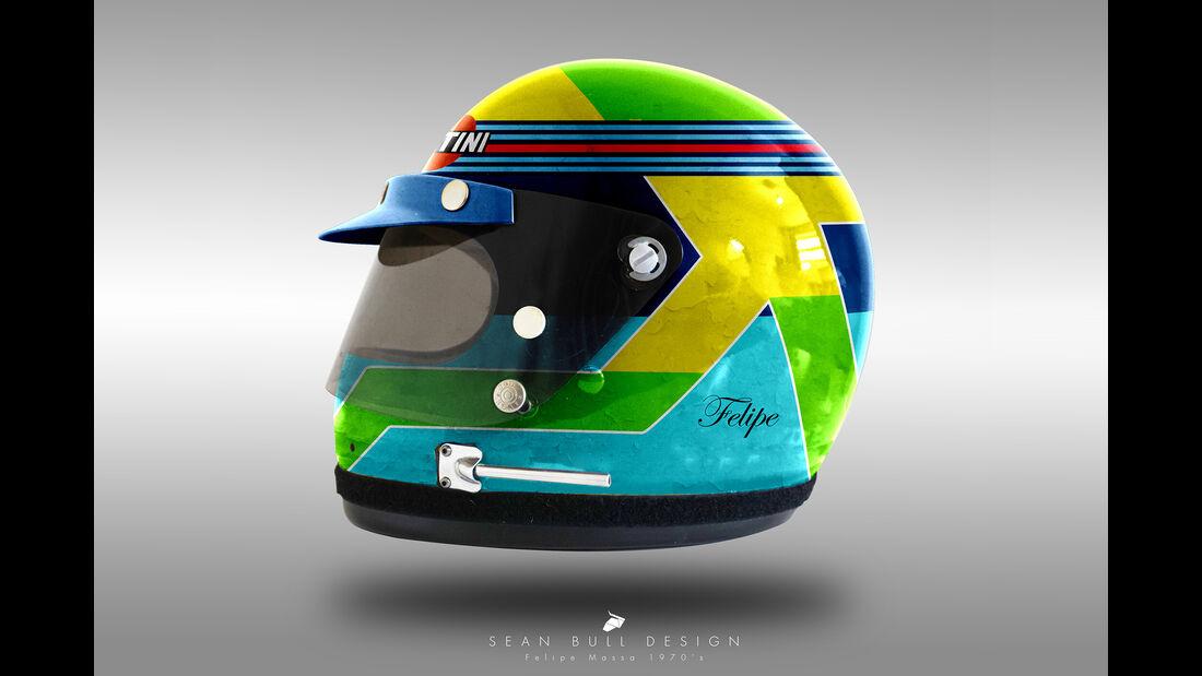 Felipe Massa - Formel 1 - Retro-Helme - Sean Bull - 2018