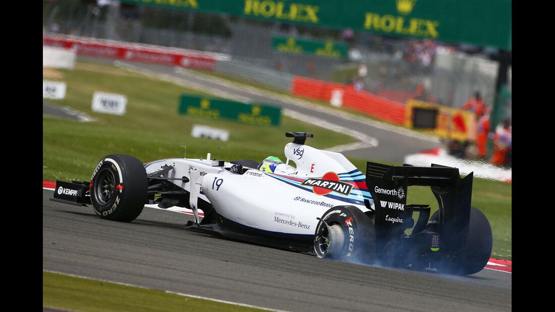Felipe Massa - GP England - Crashs 2014