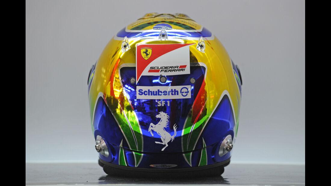 Felipe Massa Helm GP Brasilien 2011