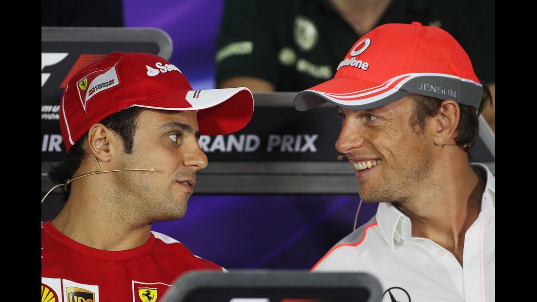 Felipe Massa & Jenson Button - Formel 1 - GP Bahrain - 18. April 2013