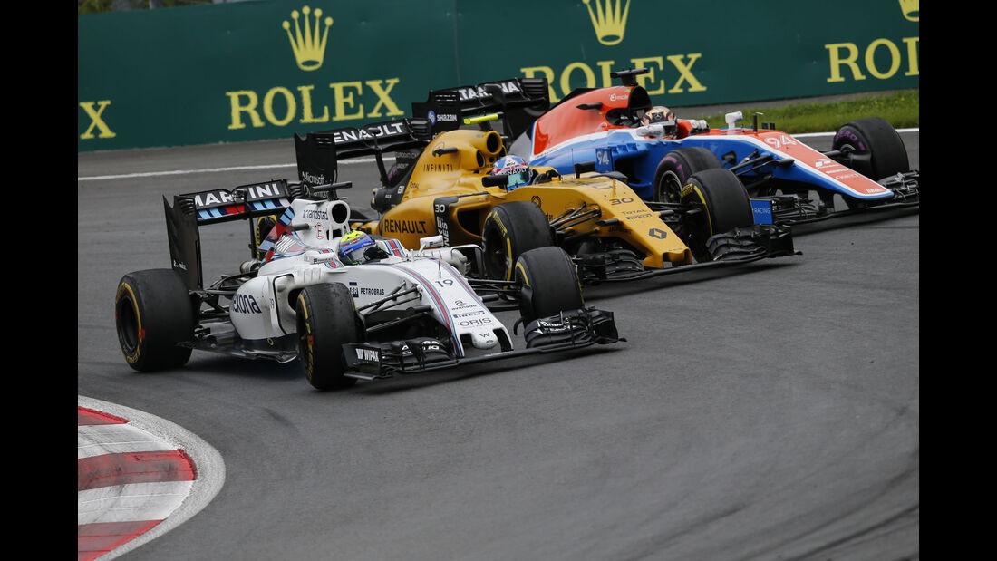 Felipe Massa - Jolyon Palmer - Pascal Wehrlein - Formel 1 - GP Österreich - 3. Juli 2016