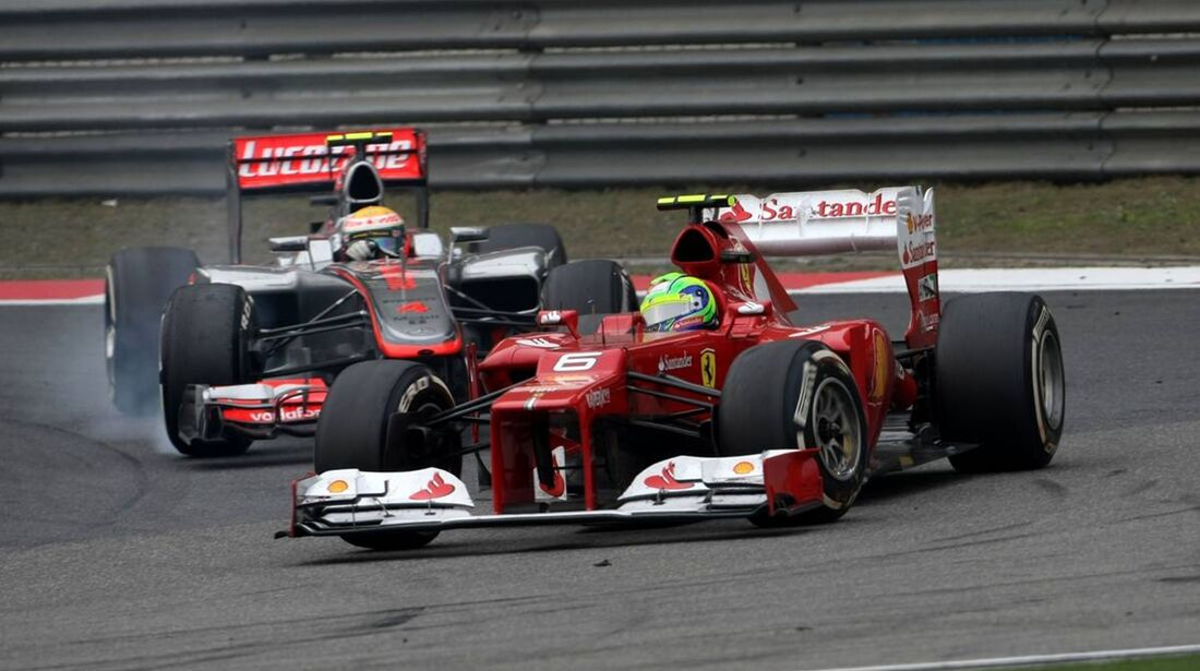 Felipe Massa - Lewis Hamilton  - Formel 1 - GP China - 15. April 2012
