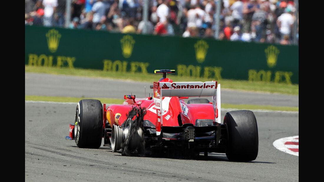 Felipe Massa - Reifenschaden GP England 2013