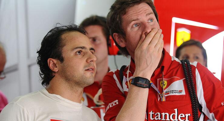 Felipe Massa Rob Smedley GP Malaysia 2012