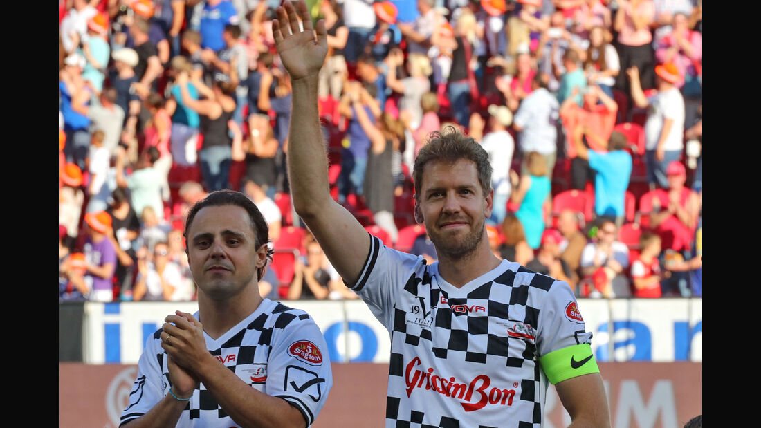 Felipe Massa & Sebastian Vettel - Schumacher Benefiz-Fußball-Spiel - Mainz - 27. Juli 2016
