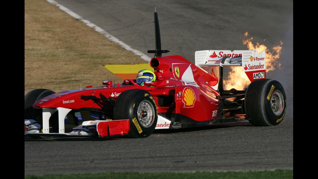 Felipe Massa Test Crashs 2011