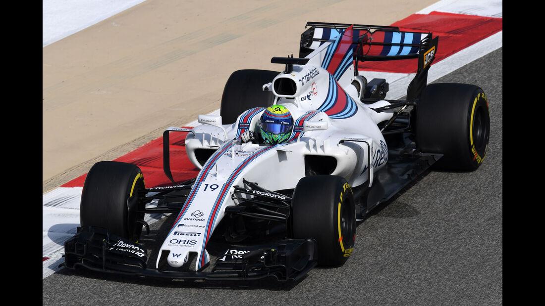 Felipe Massa - Williams - Formel 1 - GP Bahrain - Sakhir - Training - Freitag - 14.4.2017