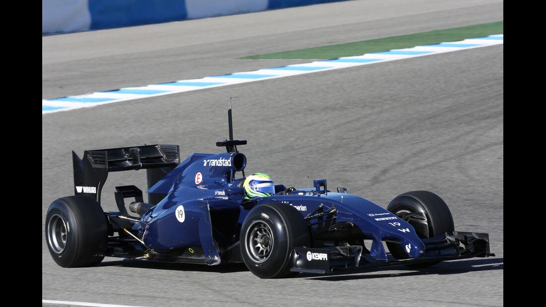Felipe Massa - Williams - Formel 1 - Jerez - Test - 30. Januar 2014