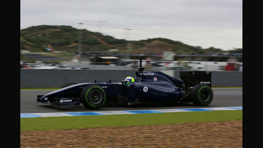 Felipe Massa - Williams - Formel 1 - Jerez - Test - 31. Januar 2014