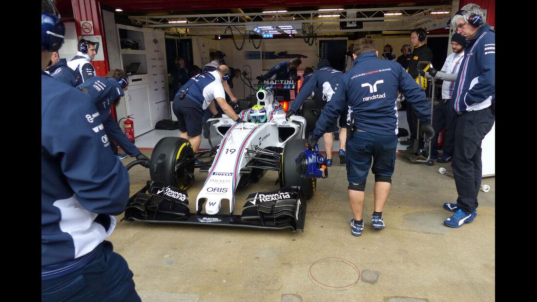 Felipe Massa- Williams. Formel 1-Test - Barcelona - 26. Februar 2015