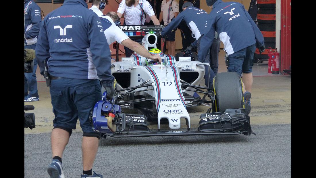 Felipe Massa  - Williams - Formel 1-Test - Barcelona - 28. Feburar 2015
