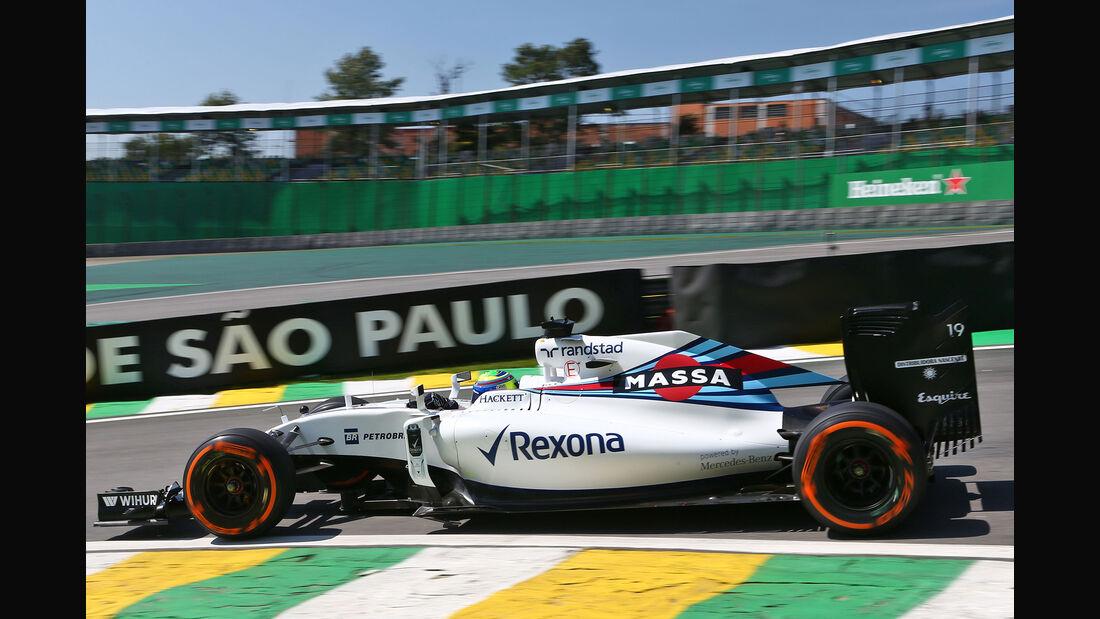 Felipe Massa - Williams - GP Brasilien - Interlagos - Freitag - 11.11.2016