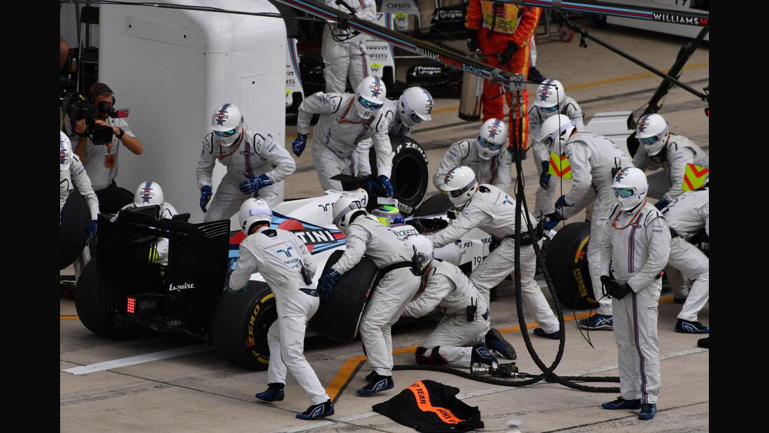 Felipe Massa - Williams - GP USA 2016 - Boxenstopp
