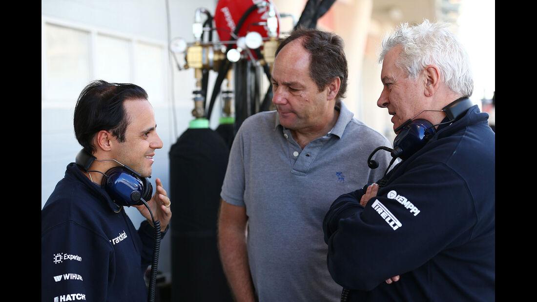 Felipe Massa - Williams - Gerhard Berger - Pat Symonds - Formel 1 - Bahrain - Test - 21. Februar 2014