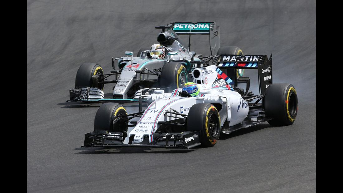 Felipe Massa - Williams - Lewis Hamilton - Mercedes - GP Ungarn - Budapest - Rennen - Sonntag - 26.7.2015