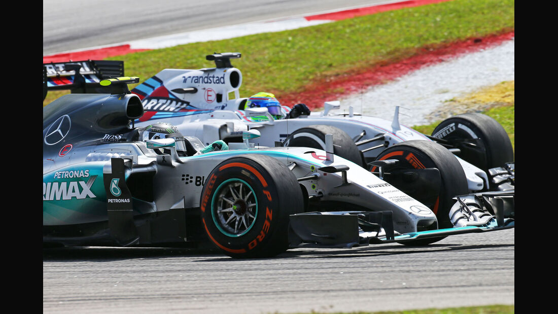 Felipe Massa - Williams - Nico Rosberg - Mercedes - GP Malaysia 2015 - Formel 1