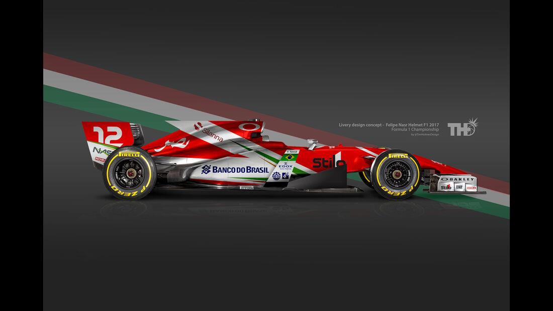 Felipe Nasr - F1-Autos mit Helm-Lackierung - 2016