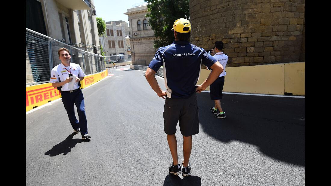 Felipe Nasr - Sauber - Formel 1 - GP Aserbaidschan - Baku - 16. Juni 2016