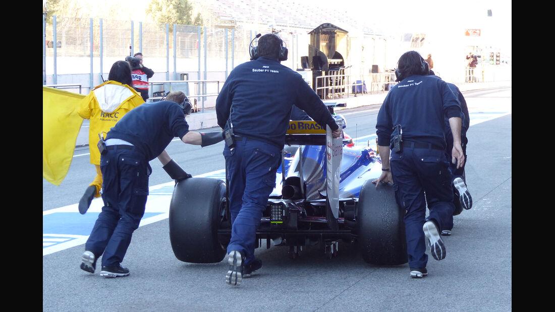Felipe Nasr - Sauber - Formel 1-Test - Barcelona - 22. Februar 2015