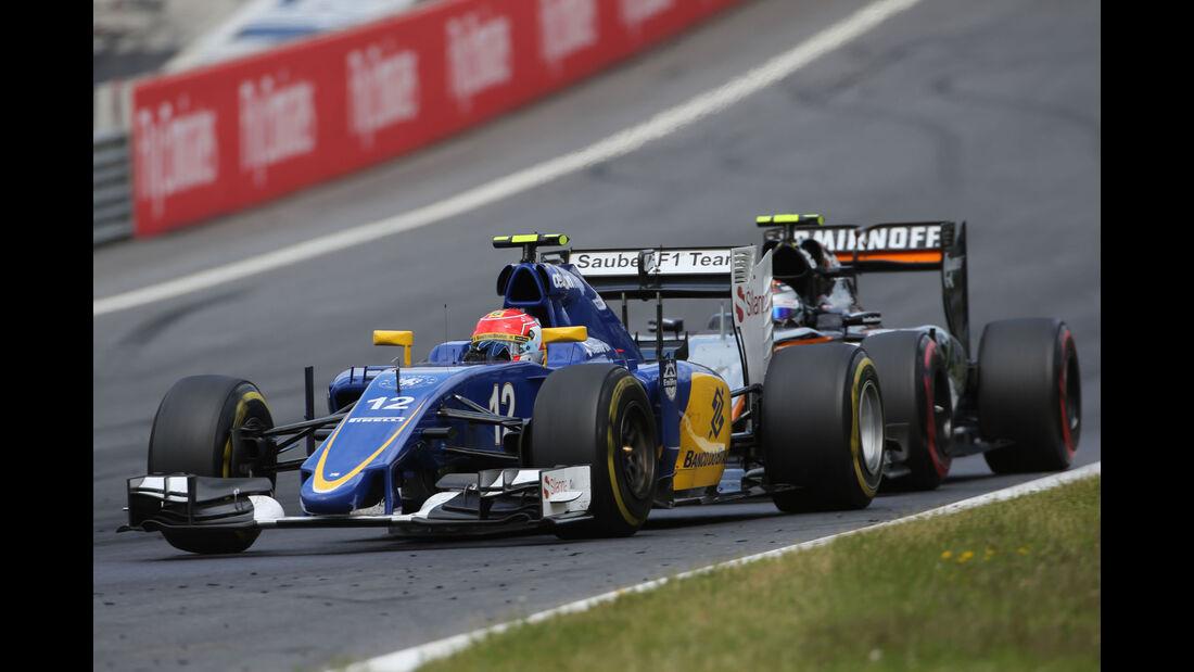 Felipe Nasr - Sauber - Sergio Perez - Force India - GP Österreich - Formel 1 - Sonntag - 21.6.2015