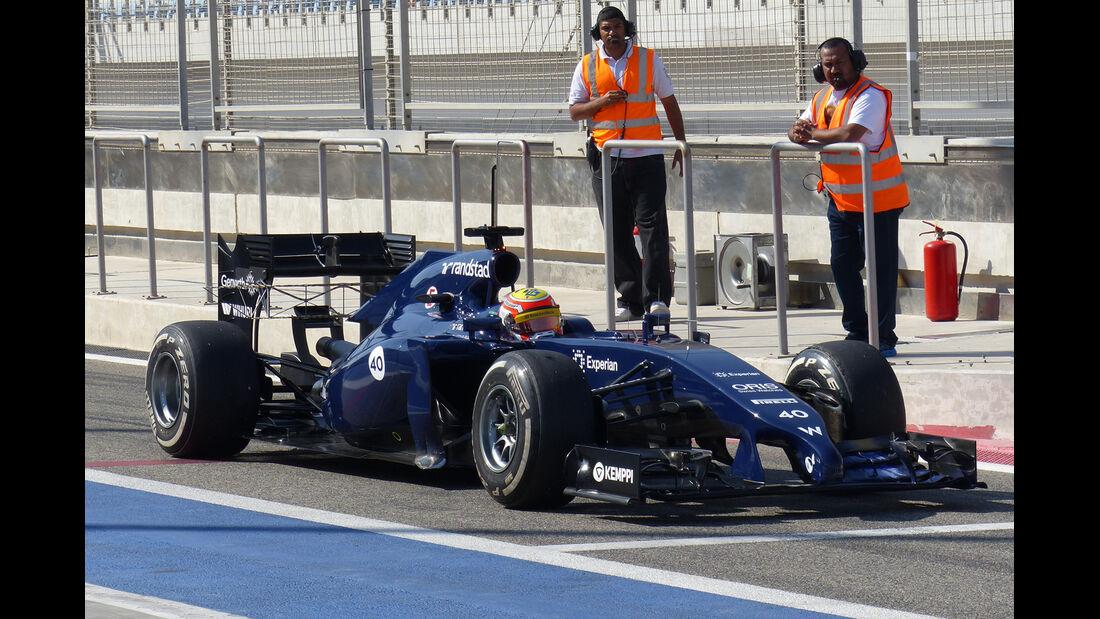 Felipe Nasr - Williams - Formel 1 - Test - Bahrain - 22. Februar 2014