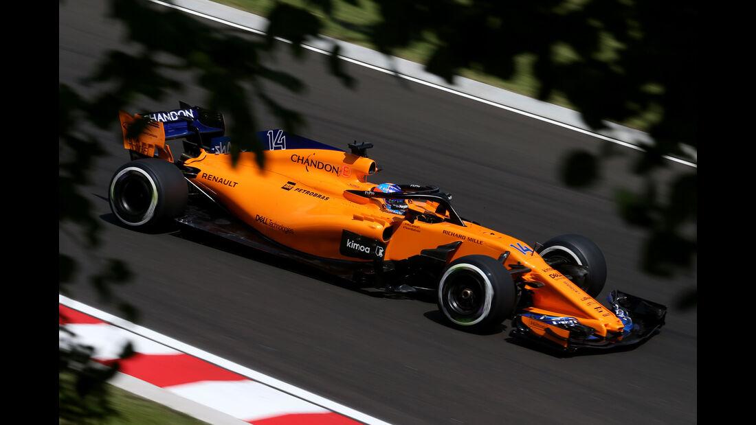 Fenando Alonso - McLaren - GP Ungarn - Budapest - Formel 1 - 27.7.2018