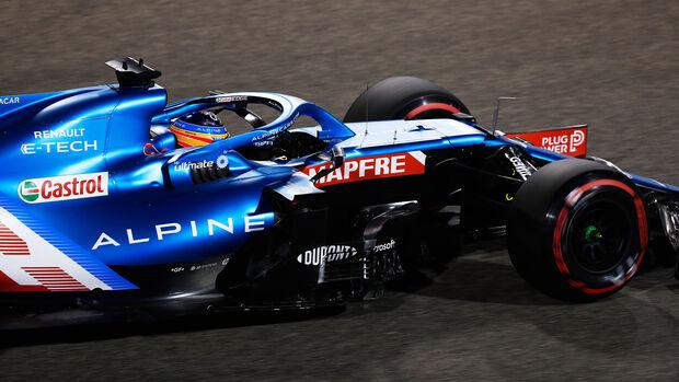 Fernando Alonso - Alpine - Formel 1 - GP Bahrain - Qualifying - Samstag - 27.3.2021