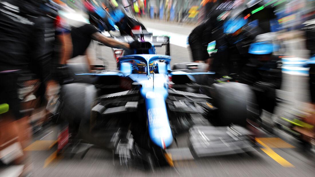 Fernando Alonso - Alpine - Formel 1 - GP Belgien - Spa-Francorchamps - 27. August 2021