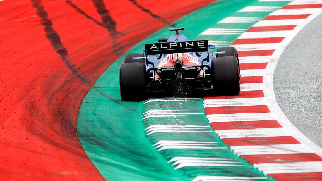 Fernando Alonso - Alpine - Formel 1 - GP Österreich - Spielberg - Freitag - 2.7.2021