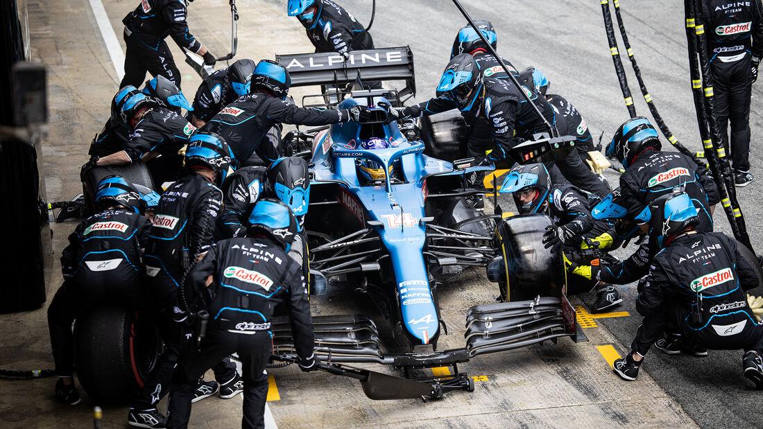 Fernando Alonso - Alpine - Formel 1 - GP Spanien 2021 - Barcelona - Rennen