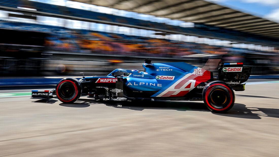Fernando Alonso - Alpine - Formel 1 - GP Türkei - Istanbul - 8. Oktober 2021