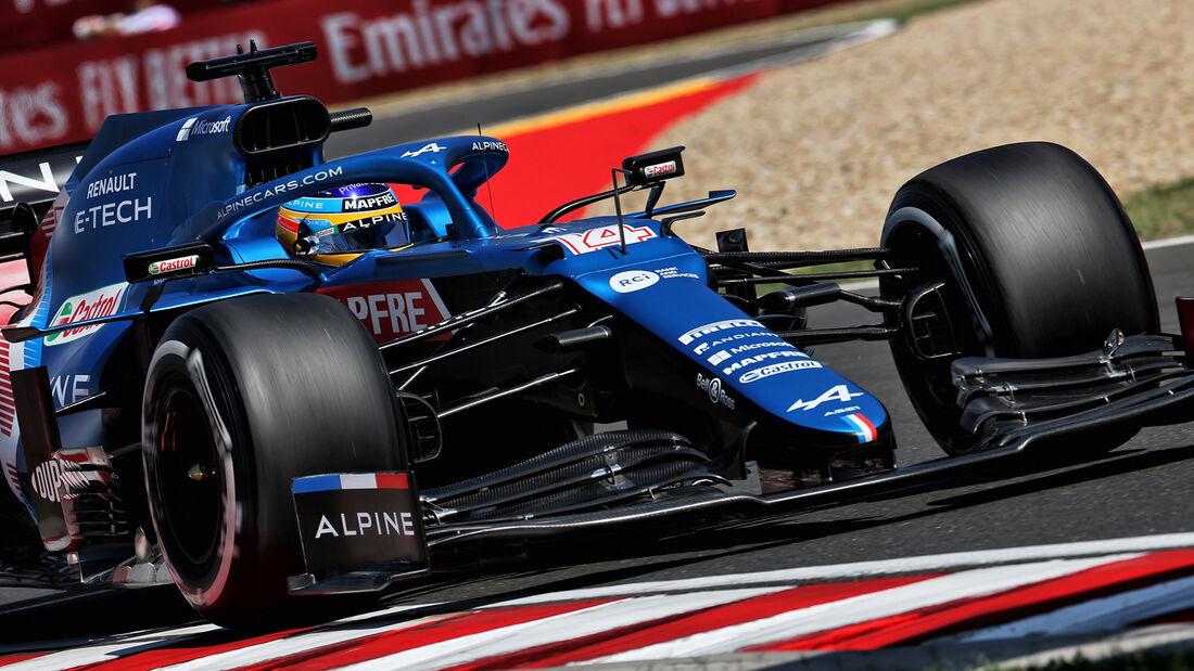 Fernando Alonso - Alpine - Formel 1 - GP Ungarn - Budapest - Freitag - 30. Juli 2021