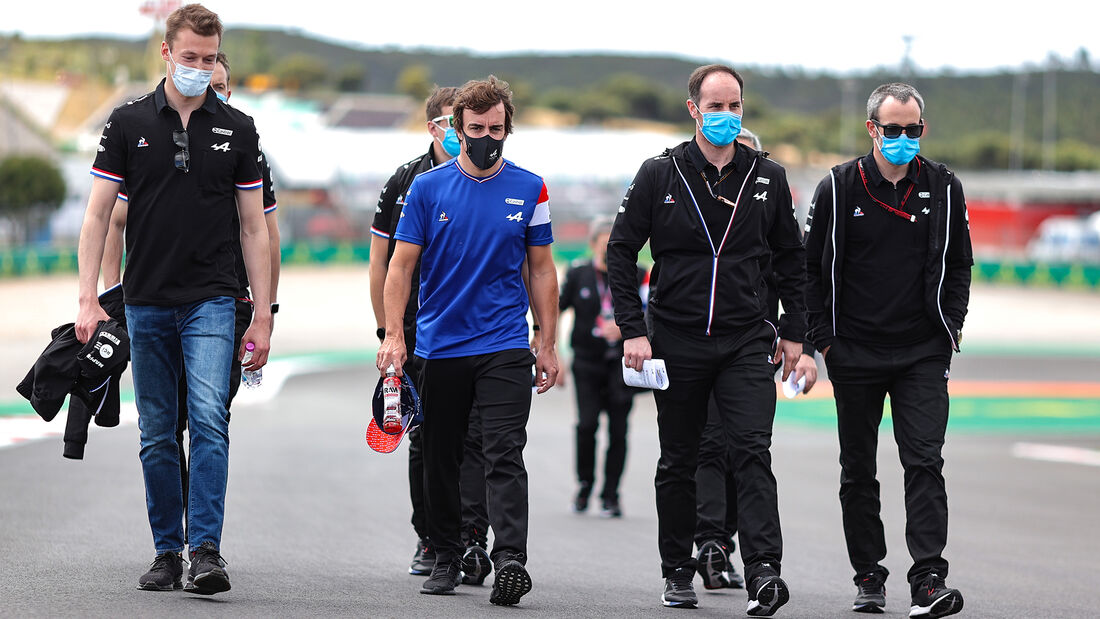Fernando Alonso - Alpine - Formel 1 - Portimao - GP Portugal - 29. April 2021