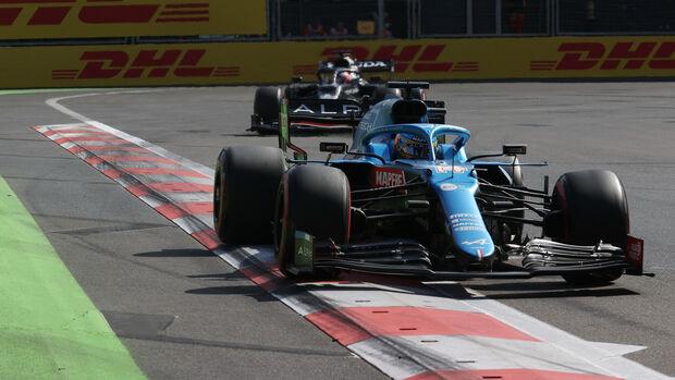 Fernando Alonso - Alpine - GP Aserbaidschan 2021 - Baku - Rennen