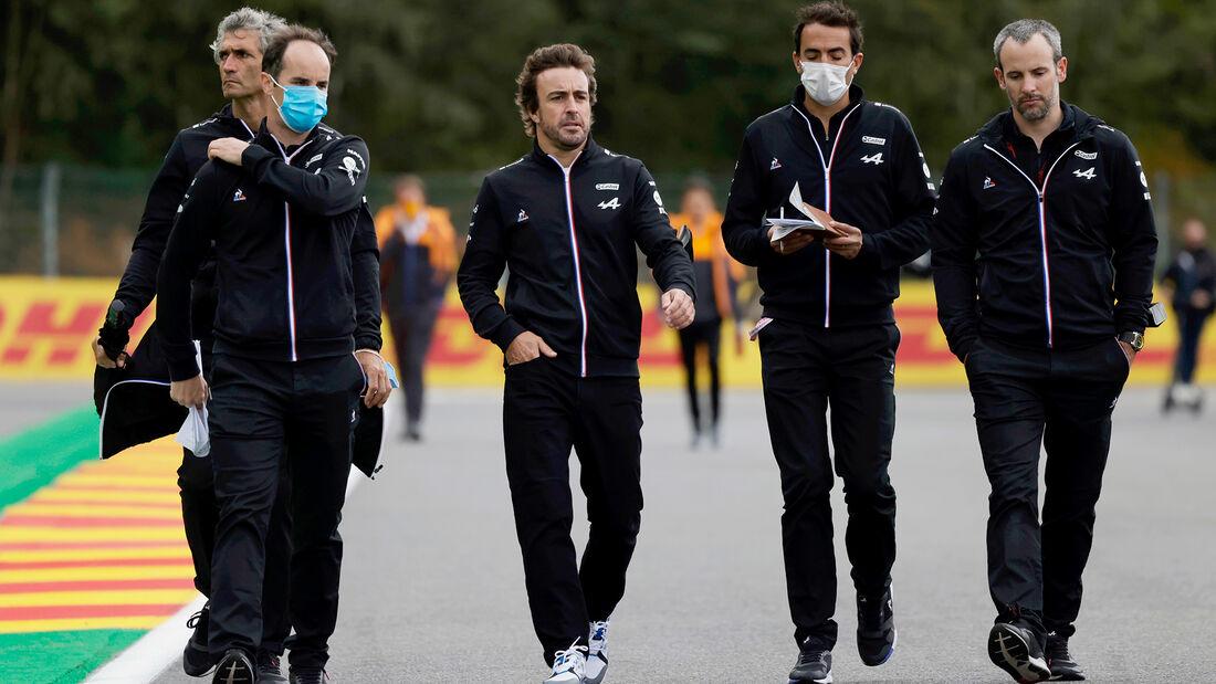 Fernando Alonso - Alpine - GP Belgien - Spa-Francorchamps - 26. August 2021
