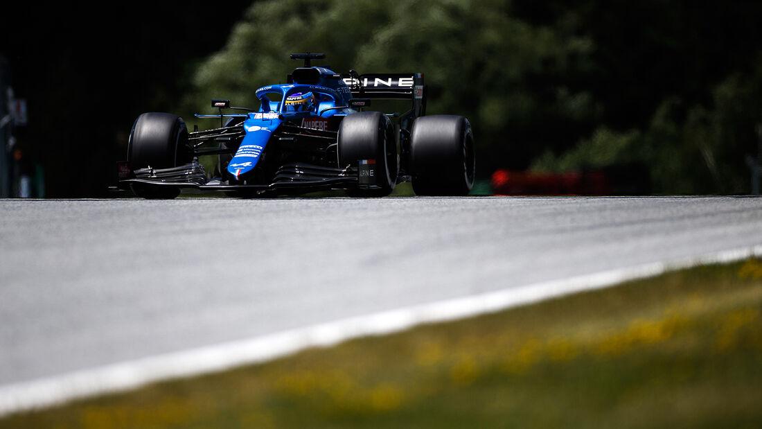 Fernando Alonso - Alpine - GP Österreich 2021 - Spielberg - Qualifikation
