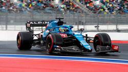 Fernando Alonso - Alpine - GP Russland 2021 - Sotschi - Qualifikation