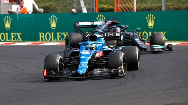Fernando Alonso - Alpine - GP Ungarn 2021 - Budapest - Rennen