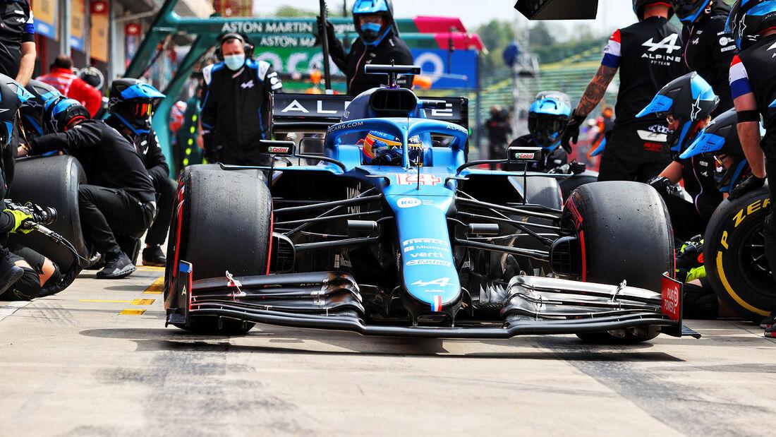 Fernando Alonso - Alpine - Imola - Formel 1 - GP Emilia Romagna - 17. April 2021