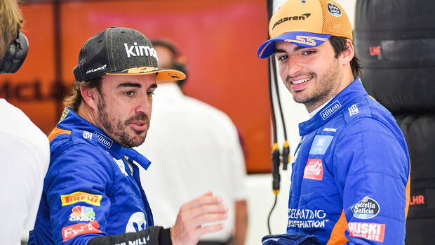 Fernando Alonso & Carlos Sainz - McLaren - F1-Test - Bahrain - 2. April 2019