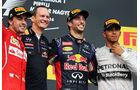 Fernando Alonso - Daniel Ricciardo - Lewis Hamilton - Formel 1 - GP Ungarn - 27. Juli 2014
