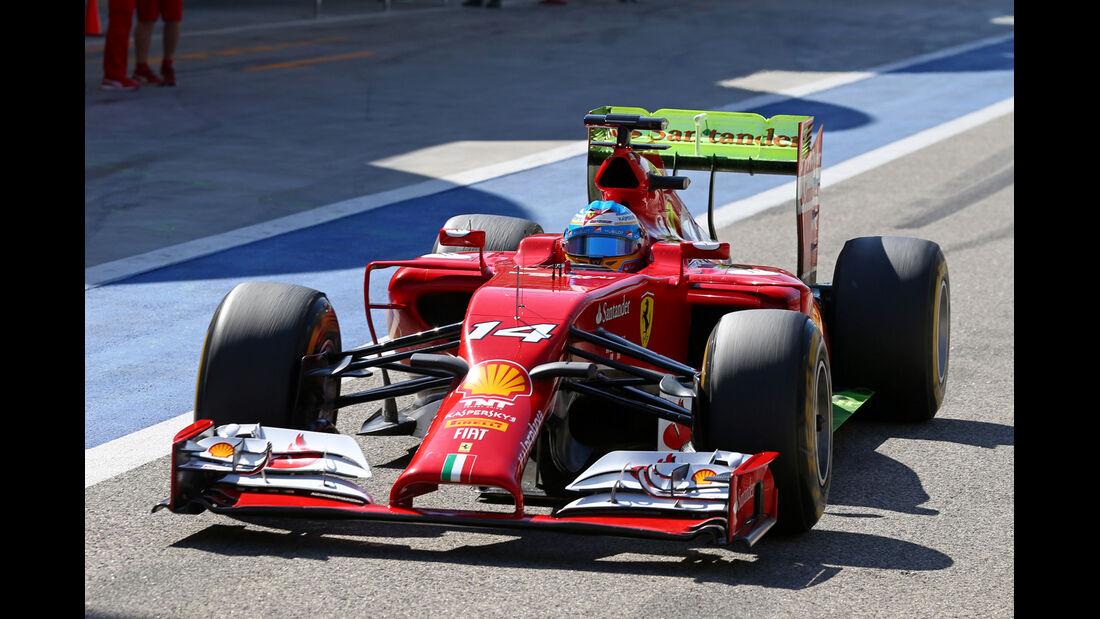 Fernando Alonso - Ferrari - Formel 1 - Bahrain - Test - 2. März 2014